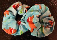 Hair Scrunchies - Australian Christmas Platypus - Handmade