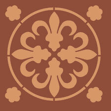 Tile Stencils PRINCE OF WALES Floor Tile Stencil A5 Re-Usable Shabby Chic 050