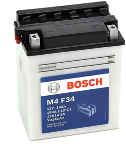 Batterie moto BOSCH M4F34 12V 14ah 190A 12N14-3A - YB14L-A2