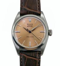 Vintage 1959 Rolex Oyster Royal Stainless Steel Manual Wind Men's Watch Ref.6427