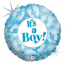ITS A BOY, BABY SHOWER - DECORATIONS FOIL BALLOON FOOTPRINTS - 45CM