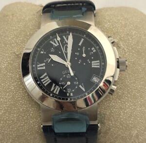 GC Swiss Chrono Blue Dial Blue Leather Watch