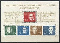 Bund 1959 Mi. Bl. 2 Block 100% Postfrisch Beethoven