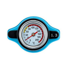 1x Universal Blue Thermostatic Gauge Radiator Cap 1.3 Bar Big Head Uprated Blue