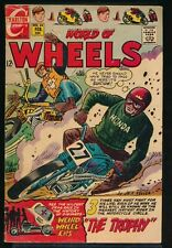 WORLD of WHEELS No. 24 1969 Charlton Motorcycle Comic Book THE TROPHY 3.5 VG-