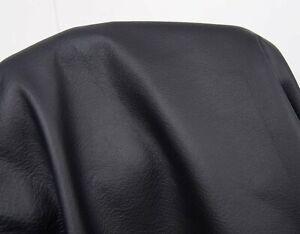 Ital. Büffelleder Nappa Federica schwarz 1,0-1,2 mm Lederstücke Lederreste #w003