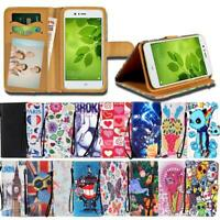For Huawei Honor 6 7 8 9 SmartPhones - Leather Smart Stand Wallet Cover Case