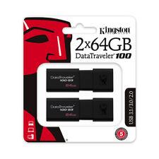 048.-DT100G3/64GB PACK DUO PENDRIVE Kingston DataTraveler100 G3 64GB USB 3.0