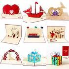 3D Pop Up Greeting Card Handmade Birthday Valentine Christmas Wedding Party