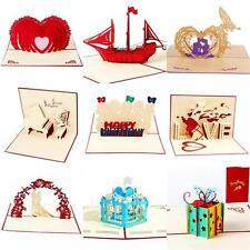 3D Pop-Up Greeting Card Wedding Birthday Anniversary Valentine's Day Thank You N