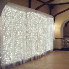 2M/3M/6M LED Window Curtain Icicle String Fairy Lights Wedding  Party Xmas Decor