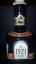 Rare Beautiful 1921 Crema de Tequila Liqueur Bottle Empty w/ Cork 750 Ml