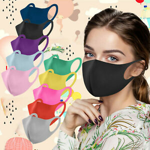 10pc Adult's Reusable Washable Air Purifying PM2.5 Face Mask Carbon Filter Lay