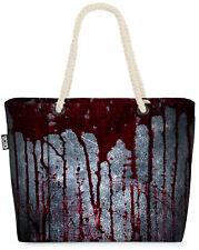 Halloween Blut Wand Beach Bag Halloween Blut Metall Dark Kostüm Rave Death