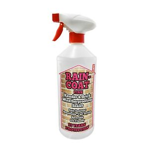 Render or Brick Waterproof Sealer - 250ml - RAIN-COAT PINK Invisible-PROTECTION