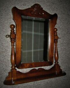 Vintage Antique Wood Victorian Table/Dresser Top Mirror
