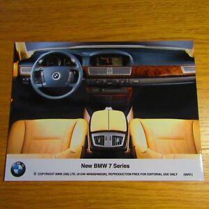 "BMW E65 7 Series LHD Interior Beige Leather Standard Seats 8x6"" Press Photo 2001"