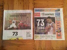 Golden State Warriors 73 Win Newspaper San Francisco Examiner & Oakland Tribune