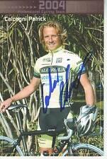 CYCLISME carte cycliste CALCAGNI PATRICK  équipe VINI CALDIROLA 2004 signée