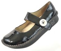 ALEGRIA PAL-101 Black Patent Leather Mary Janes Women Shoes EU 39 US 9/9.5 EUC