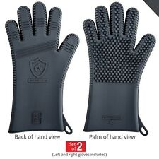 Premium Silicone BBQ Gloves - Heat Resistant for Grill Barbecue & Oven