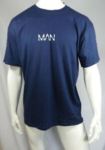 Mens Oversized Original Man T-Shirt Navy Size M MTJul24-5