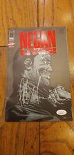 NEGAN LIVES #1 Comic Signed Auto by JEFFREY DEAN MORGAN Walking Dead - JSA