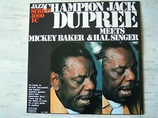 Champion Jack Dupree - MEETS MICKEY BAKER & HAL SINGER (Lp) Press ITALY Reissue