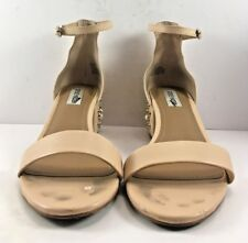 Steve Madden Blush Leather Indie Studded Open Toe Sandals Womens Size US 8M