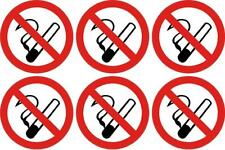 NO SMOKING sticker 100mm X 6 warning sign safety smoke free vinyl decal