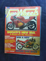 AUS TWO WHEELS MOTORCYCLE SPORTS MAGAZINE. DECEMBER 1987. DUCATI DESMO
