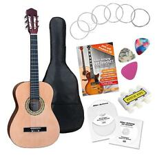 SET GUITARE CONCERT CLASSIQUE 3/4 CORDES PLECTRES HOUSSE PITCH PIPE ACCORDEUR