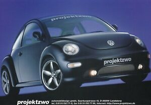 VW VOLKSWAGEN BEETLE PROJEKTZWO Prospekt Brochure Sheet mit Preisliste 1999 81