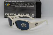 COSTA DEL MAR Vela Sunglasses White frame / Grey 580G Glass lens Women's