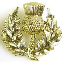 SCOTTISH PIPERS BAGPIPES GLENGARRY TYPE CLASSIC GENUINE LARGE THISTLE BADGE