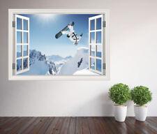Extreme sports snowboard window wall sticker wall mural (9326482ww) Snowboard