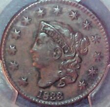 1833 LARGE CENT PCGS XF-40 NO PROBLEM COIN
