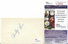 CHARLEY LAU HITTING GURU DECEASED SIGNED AUTOGRAPHED 3X5 INDEX CARD JSA V44655