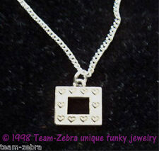 Funky Mini PHOTO FRAME HEARTS PENDANT NECKLACE Love Charm Valentine Gift Jewelry