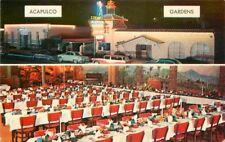 Acapulco Gardens Restaurant interior autos 1950s Night Neon Coast Photo 12631