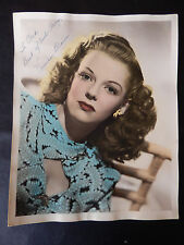 "Vivian Blaine Autographed 8"" X 10"" Photograph from Estate"