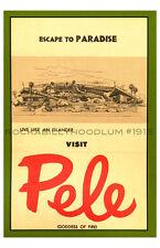 Tiki Poster 11x17 Polynesian Retro Tiki Bar Lounge Pele Resort Ad Art