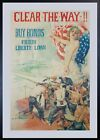 1918 Clear The Way Buy Bonds Fourth Liberty Loan Poster Howard Chandler Christy