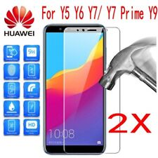 2X Tempered Glass Film Screen Protector For Huawei Y9 2018/Y6/Y7 Prim 2018 2017