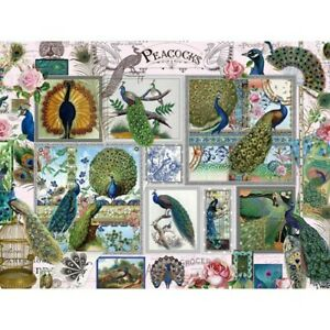 Bits And Pieces 1000 Pc Puzzle Peacock Collage 20 X 27 Barbara Behr Art Sealed