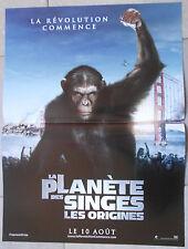 Affiche PLANETE DES SINGES ORIGINES Rise of the planet of the Apes JAMES FRANCO