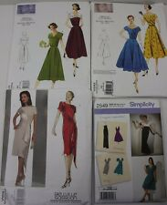 Lot 4 Uncut Sewing Patterns Vintage 1950 Dresses Size 6 - 14 Vogue Simplicity