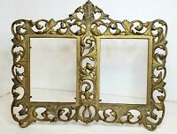 Antique Double Frame French Style Gilded Bronze Frame Swivel Easel Back AF 155