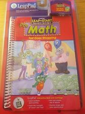 LeapPad Leap Start Pre Math Tad Goes Shopping Interactive Book And Cartridge NEW