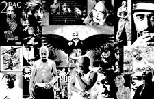 "2Pac ""Black Light"" Collage Poster"